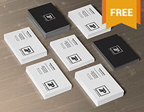 2 Free PSD Business Card Mockups