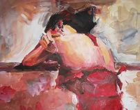 Painting, paint,watercolor, canvas,Oil paints