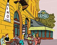 Kino Cafe - brand identity