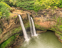 Drone over Oahu and Kauai