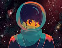 Astronauta - ilustración
