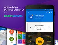 Mobile App UI Design for Healthvectors