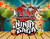 Facebook game Ninja Saga Game graphic