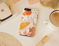 Phone case design and illustration