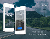"""Mobile app """"Grand Taxi"""""""
