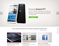 Huawei Nordic site - Design & information architecture