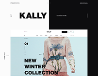Web design for the Kally clothing store