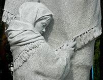 Girl (fragment of monument to War Women), granite, 2012