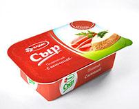 Упаковка плавленного сыра Алдес