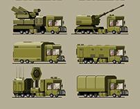 Military truck set