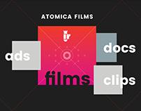 Atomica Films Web Desing