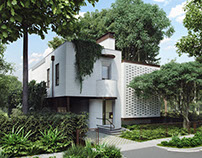 3D Exterior Renders of a Stylish House by ArchiCGI
