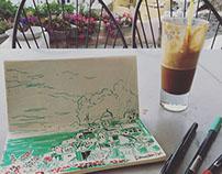 Sketchbook // Cosmos - Greek Islands