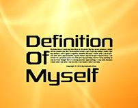 Definition of Myself Poster