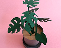 Paper art - Monstera plant