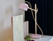 LED Wooden table light MOB PASTEL