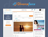 DivorceForce responsive website