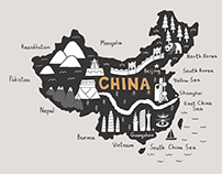 China tourist attractions map