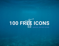 100 Annual Report Icons