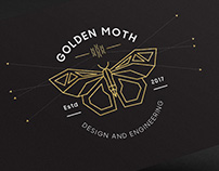 Golden Moth Logo Design