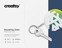 Round Key Chain Mockup Set
