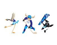Character Design - Olympic Mascots - In House Project