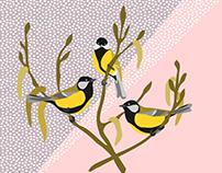 """Illustration """"Winter Birds"""""""