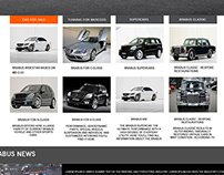 Modified Luxury Car Concept Homepage