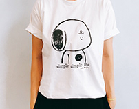 Simply Simple Me limited hand screen-printed Tee