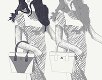 """The Yin Yang Twins"" – Fashion Illustration"