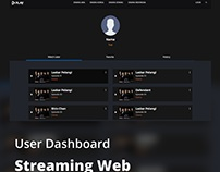 User Dashboard - Streaming Web
