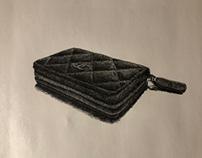 Small wallet drawing