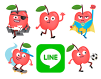 Mr. Apple Jr. - LINE stickers