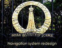 Indian Institute of Science navigation system redesign