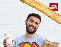Five Guys Branding Campaign - It's all about the fries