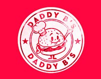 Daddy B's Hamburger Restaurant branding