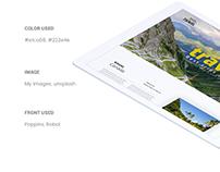 Travel Web page Design