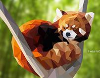Low Poly - Panda Roux