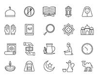 20 Ramadan Vector Icons