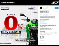 Kawasaki Instagram Poster Design - Simon Designs
