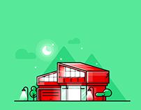 Modern Architecture Illustrations // Illustration