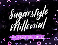 [Free Font] Sugarstyle Millenial - Handmade Typeface