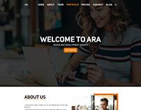 Corporate Landing Page Design Adobe Photoshop