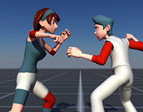 Fighting animation