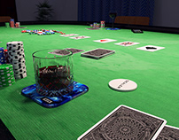 Poker night - 3D renderings