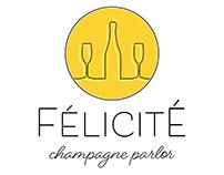 Félicité Champagne Parlor Logo Concept