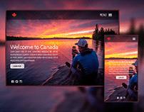 Tourism Canada Landing Page