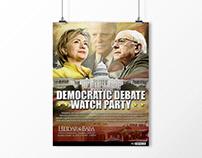 Democratic Debate Watch Party Poster