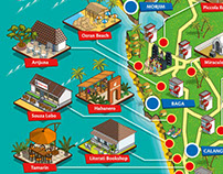 OYO Rooms Goa Map Illustration
