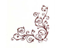 Maroon Vines and Leaf Border Machine Embroidery Design